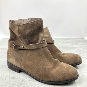 Franco Sarto Brown Suede Ankle Boots